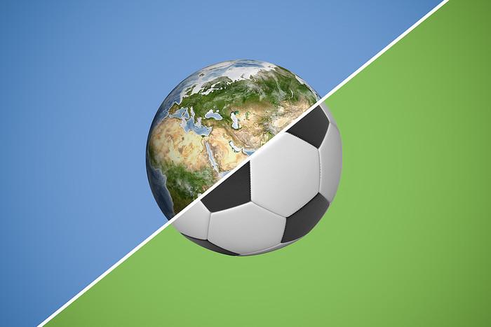 Half Globe Half Football