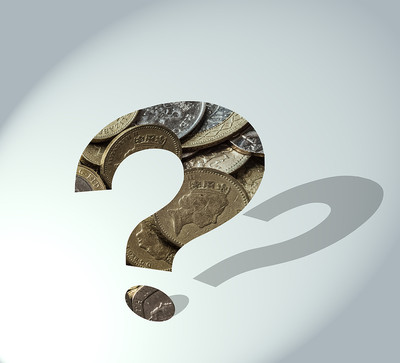 Question Mark Filled with Coins