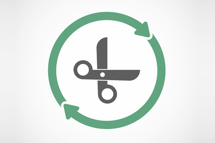 Scissors Cut and Reuse Icon