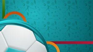 Turquoise Euro Football Logo