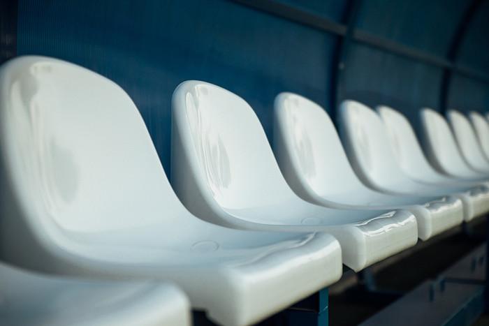 White Sports Bench Seats
