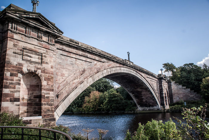 Grosvenor Bridge in Chester