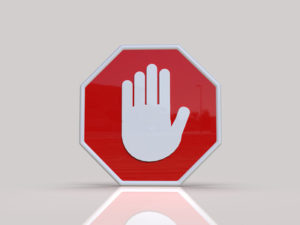 3D Hand Stop Sign
