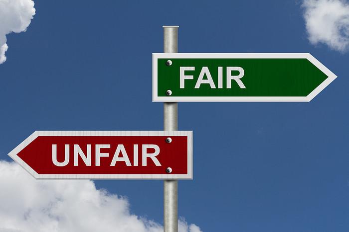 Fair and Unfair Street Signs