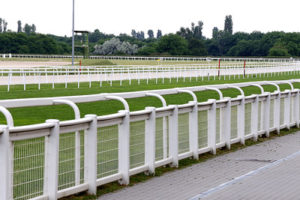 Rails at Turf and All-Weather Racecourse