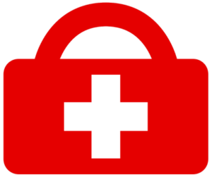 Red Medical Bag Icon