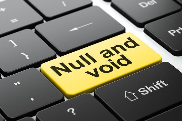 Yellow Null and Void Keyboard Button