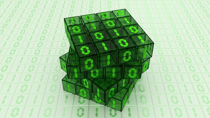 Binary Puzzle Cube