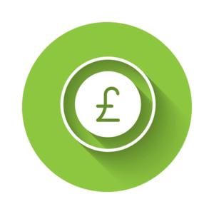 Green Pound Sign Circle Icon
