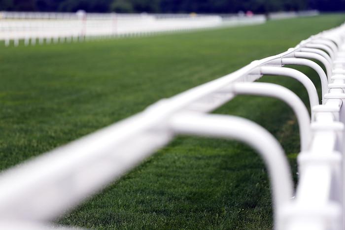 Racecourse Rails Blurred