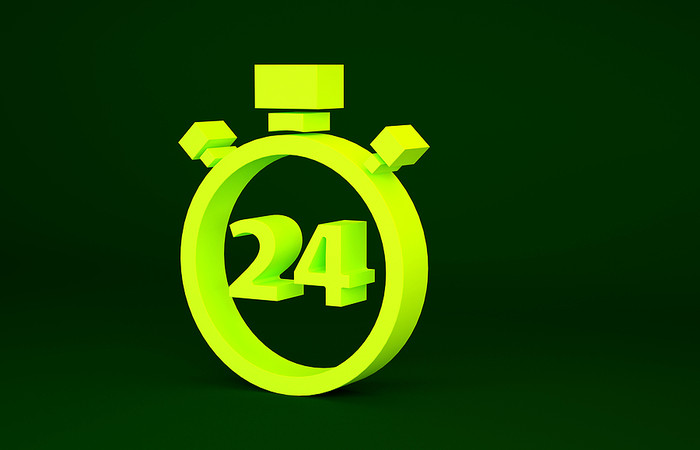 3D 24 Hours Stopwatch Icon