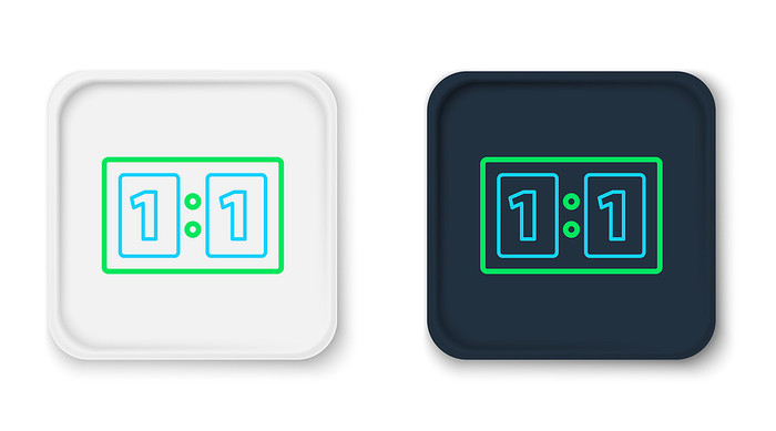 Black and White Football Score Icons