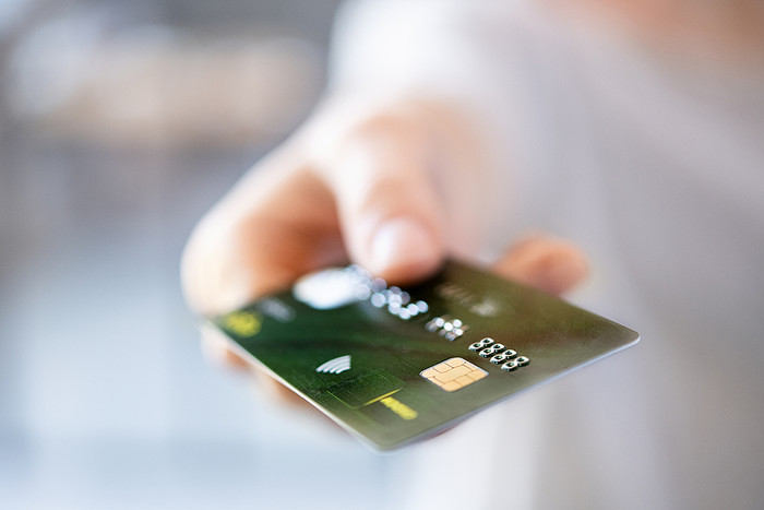 Blurred Payment Card