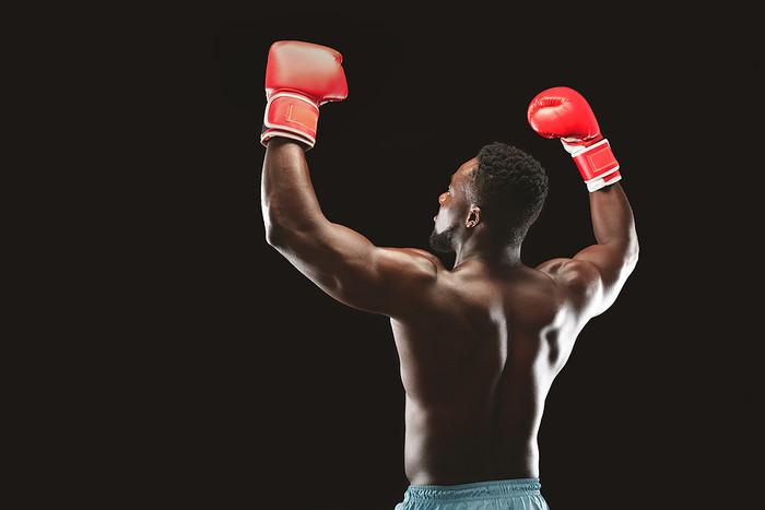 Boxer Celebrating