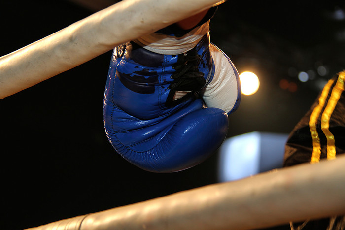 Boxer's Glove Standing in Corner