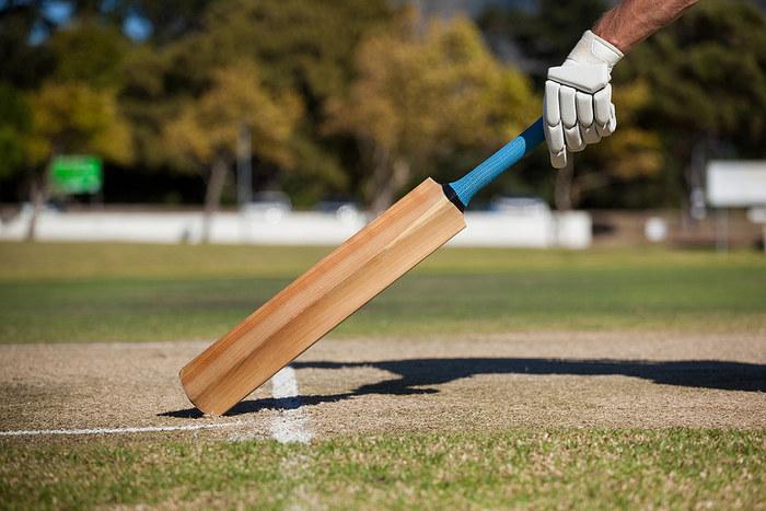 Cricketer Grounding Bat in Crease