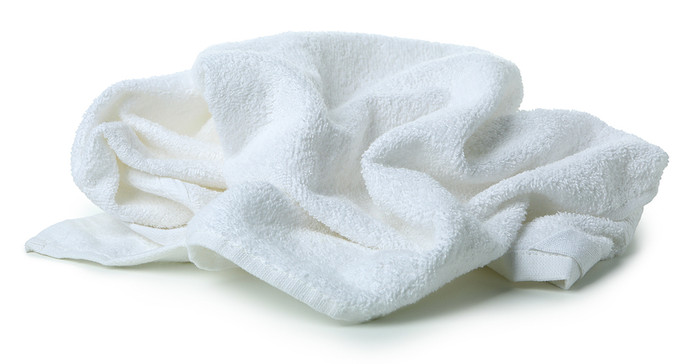 Crumpled White Towel