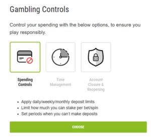 Ladbrokes Gambling Controls Options