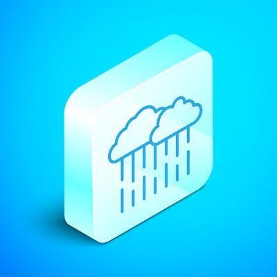 Raincloud Icon Button