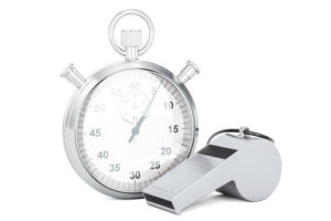 Silver Whistle and Stopwatch