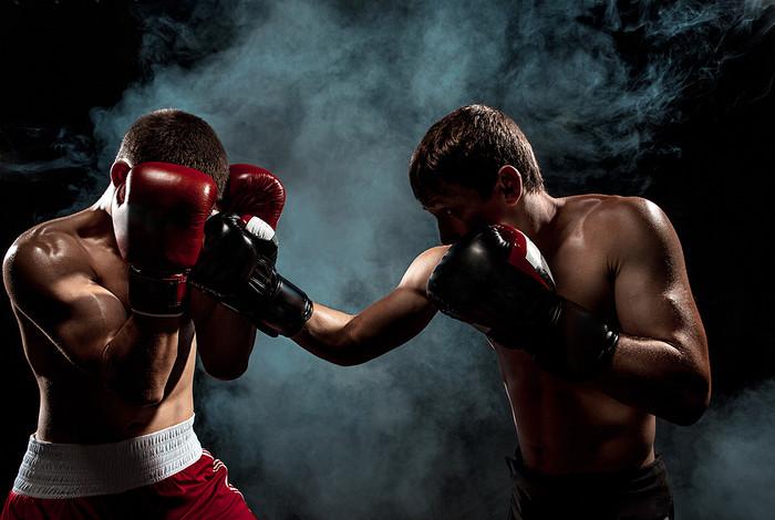 Two Boxers Smokey Background