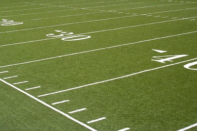 American Football Field Yard Markings