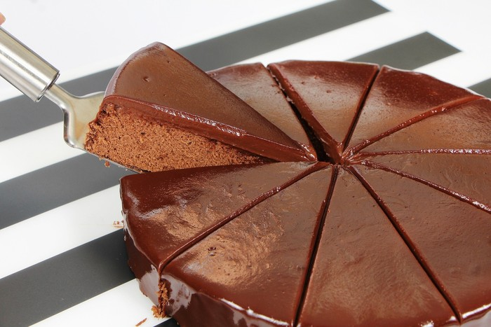 Chocolate Cake in Slices