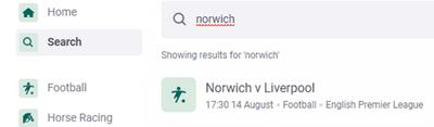 Norwich v Liverpool Betting