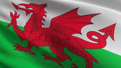 Wales Flag at Angle