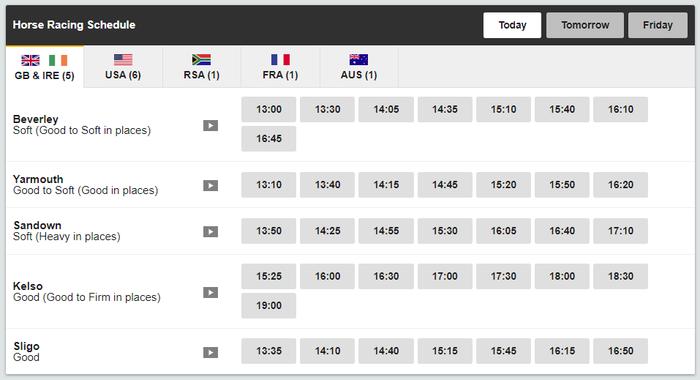Betfair Exchange Horse Racing Betting